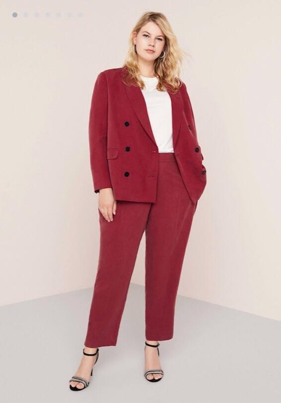Maroon Color Plus Size Suit