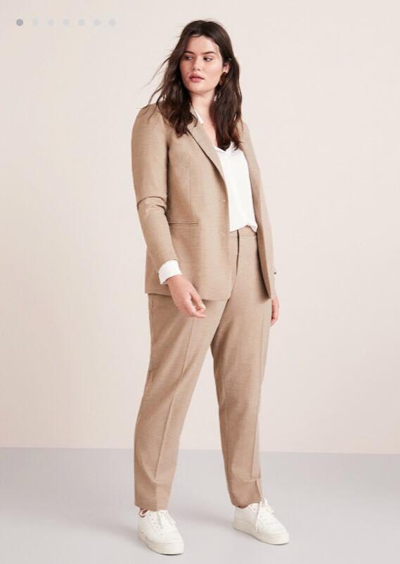 Khaki Plus Size Suit