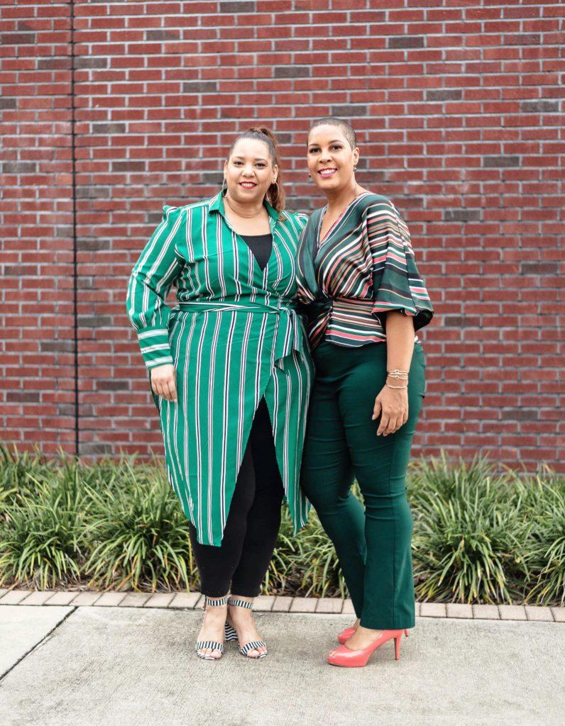 Plus Size Bloggers Farrah Estrella and Latonia Robinson
