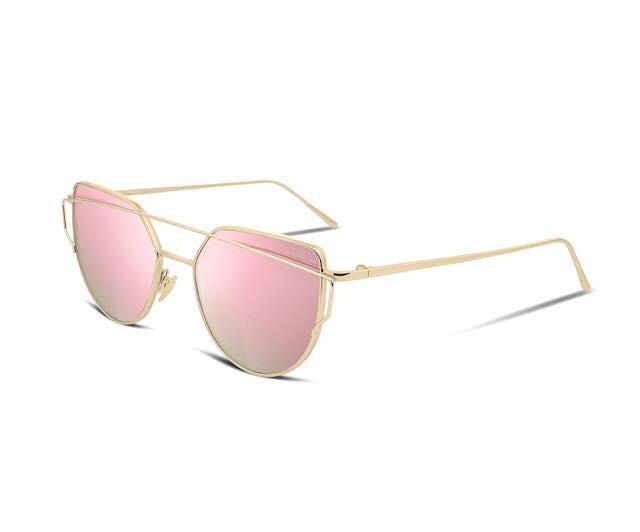 Pink Frame Mirror Sunglasses