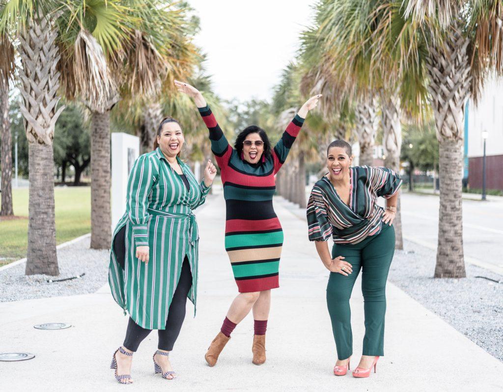 Plus Size Bloggers Farrah Estrella, Nadia Pena and Latonia Robinson