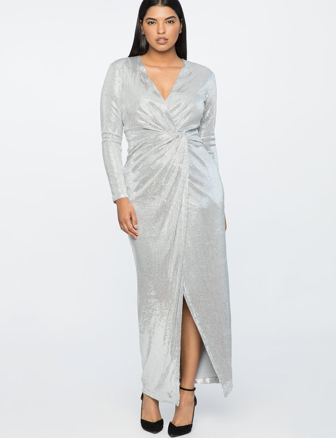 Jason Wu X ELOQUII Sequin Wrap Gown