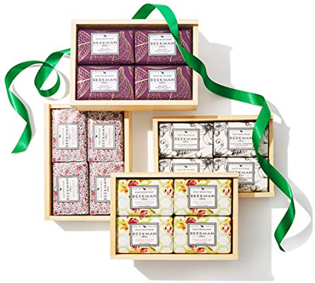 Goat Milk Set of Four 9oz Bar Soap Gift Box - (Fig Leaf)