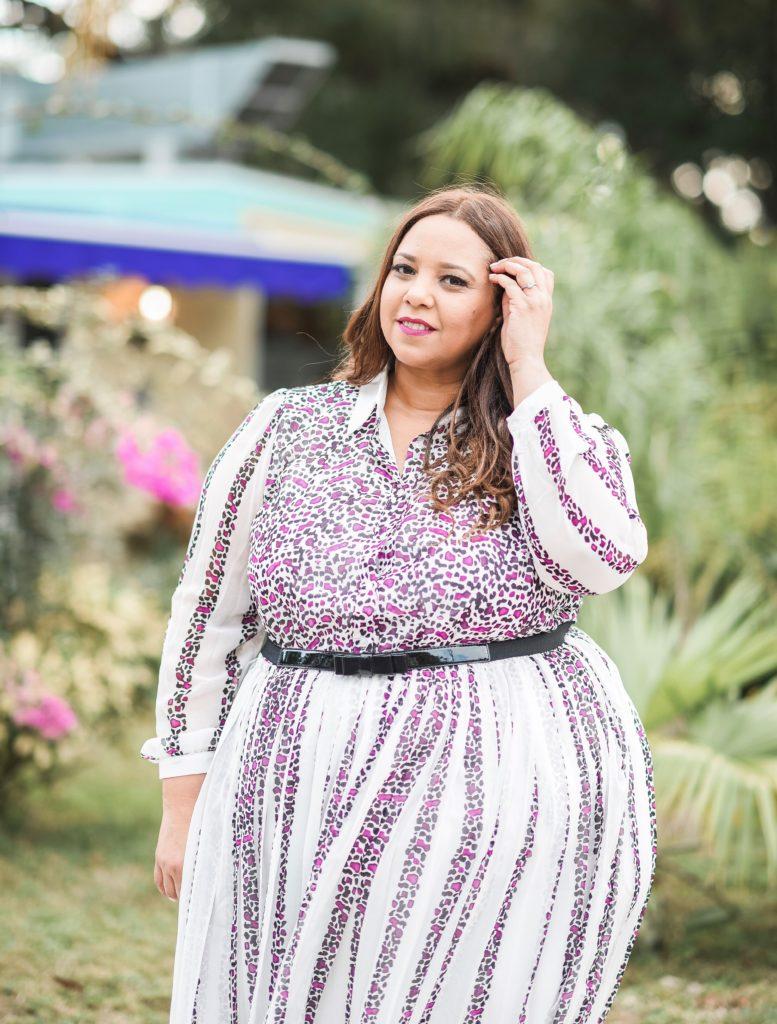 Blogger Farrah Estrella Wearing Lane Bryant