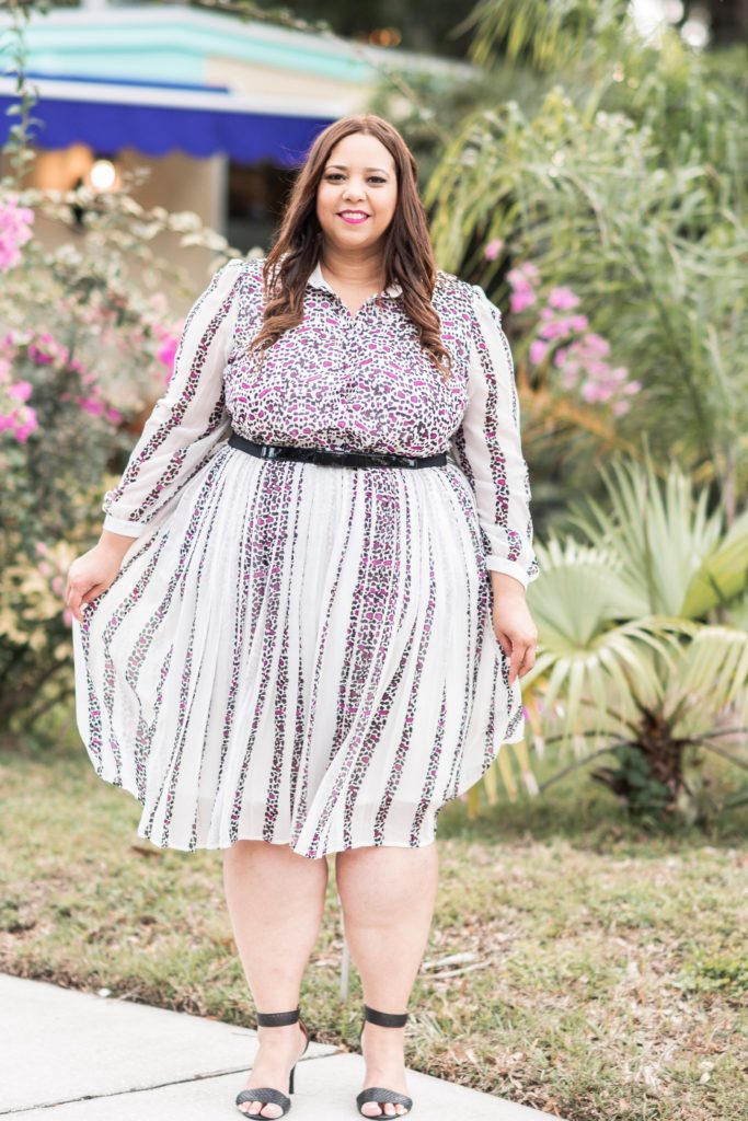 Blogger Farrah Estrella Wearing Girl With Curves Collection For Lane Bryant