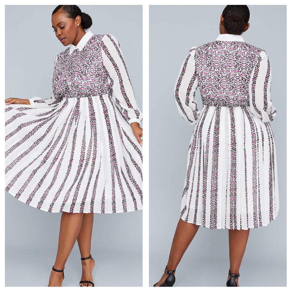 Girl With Curves Mixed Print Dress