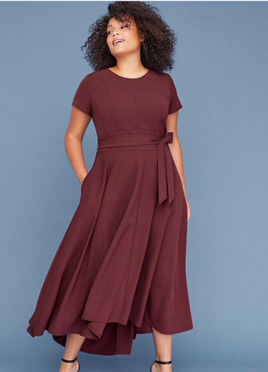 Belted High-Low Maxi Dress
