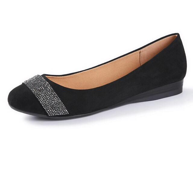 Good Soles Slip-On Sparkle Flat