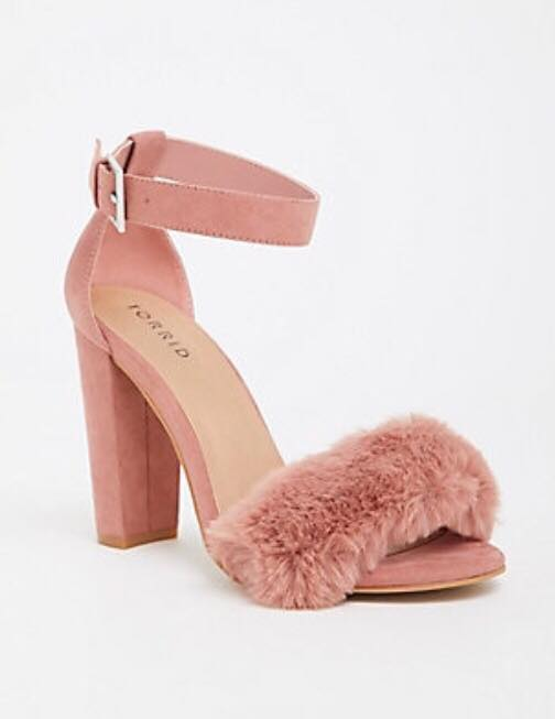 Mauve Faux Fur Sandals