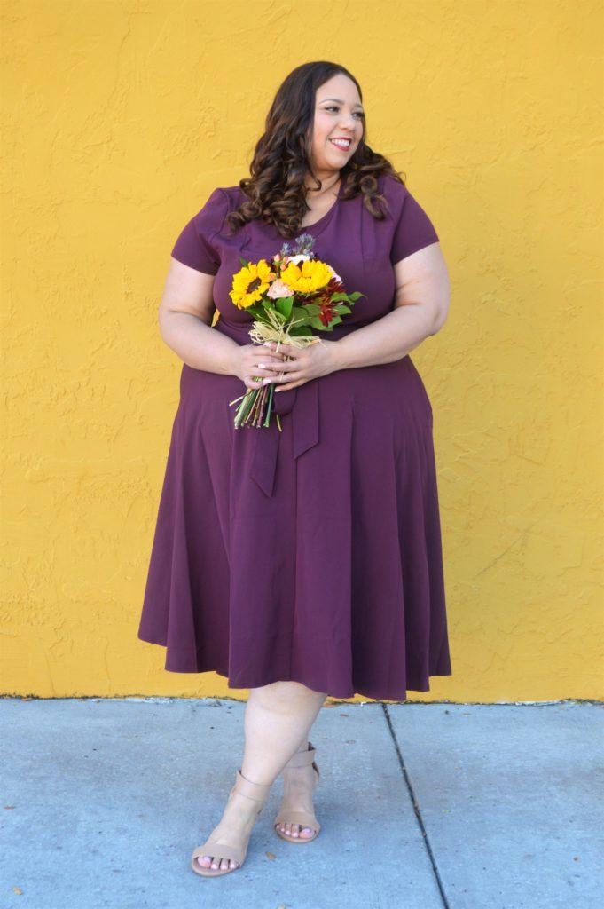 Burgundy Plus Size Dress