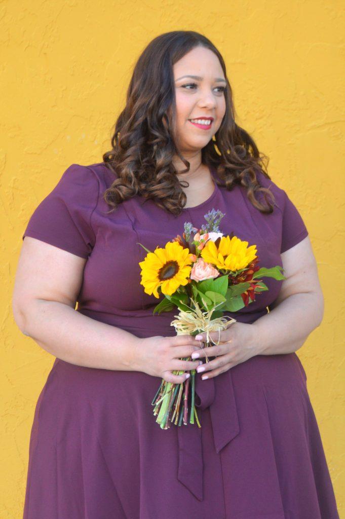 Plus Size Burgundy Dress