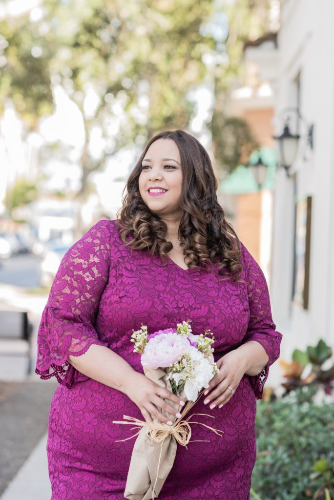 Plus Size Hot Pink Dress