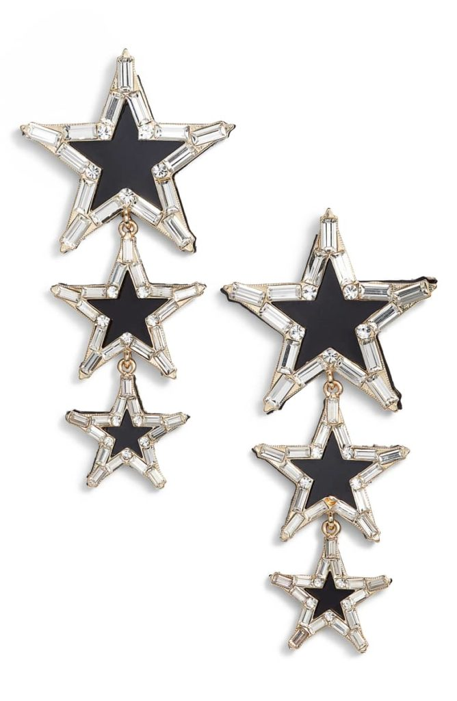 Stella + Ruby Layered Star Earrings