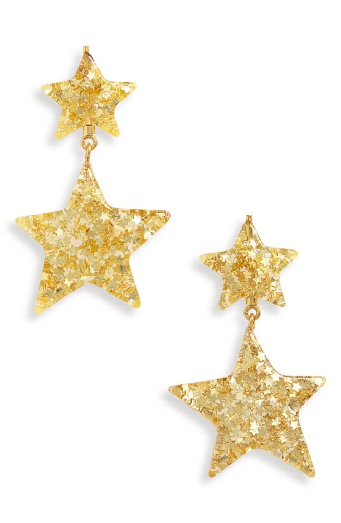 Glitter Star Statement Earrings