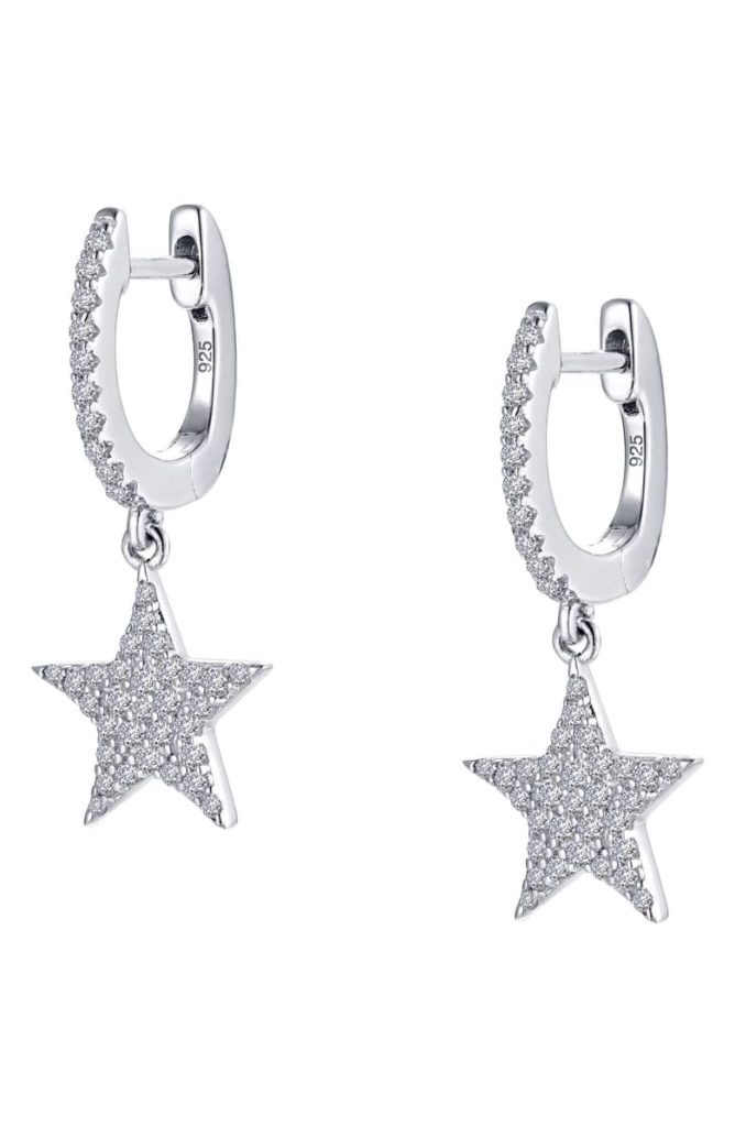 Lafonn Star Simulated Diamond Drop Earrings