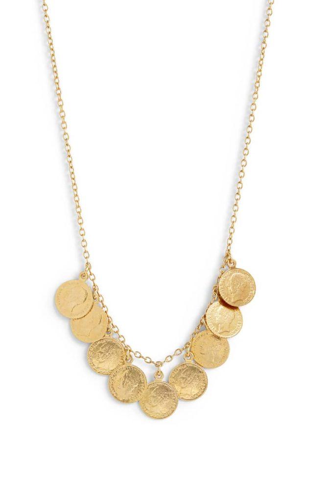 Antique Coin Charm Necklace