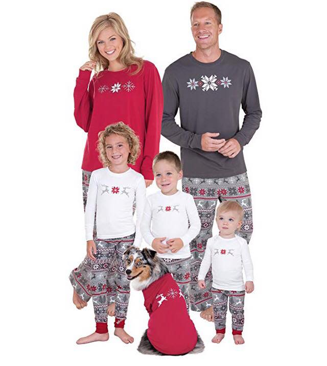 PajamaGram Family Christmas Pajamas Set - Soft Cotton Family Pajamas, Gray