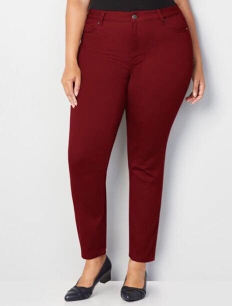 Red Plus Size Skinny Jeans