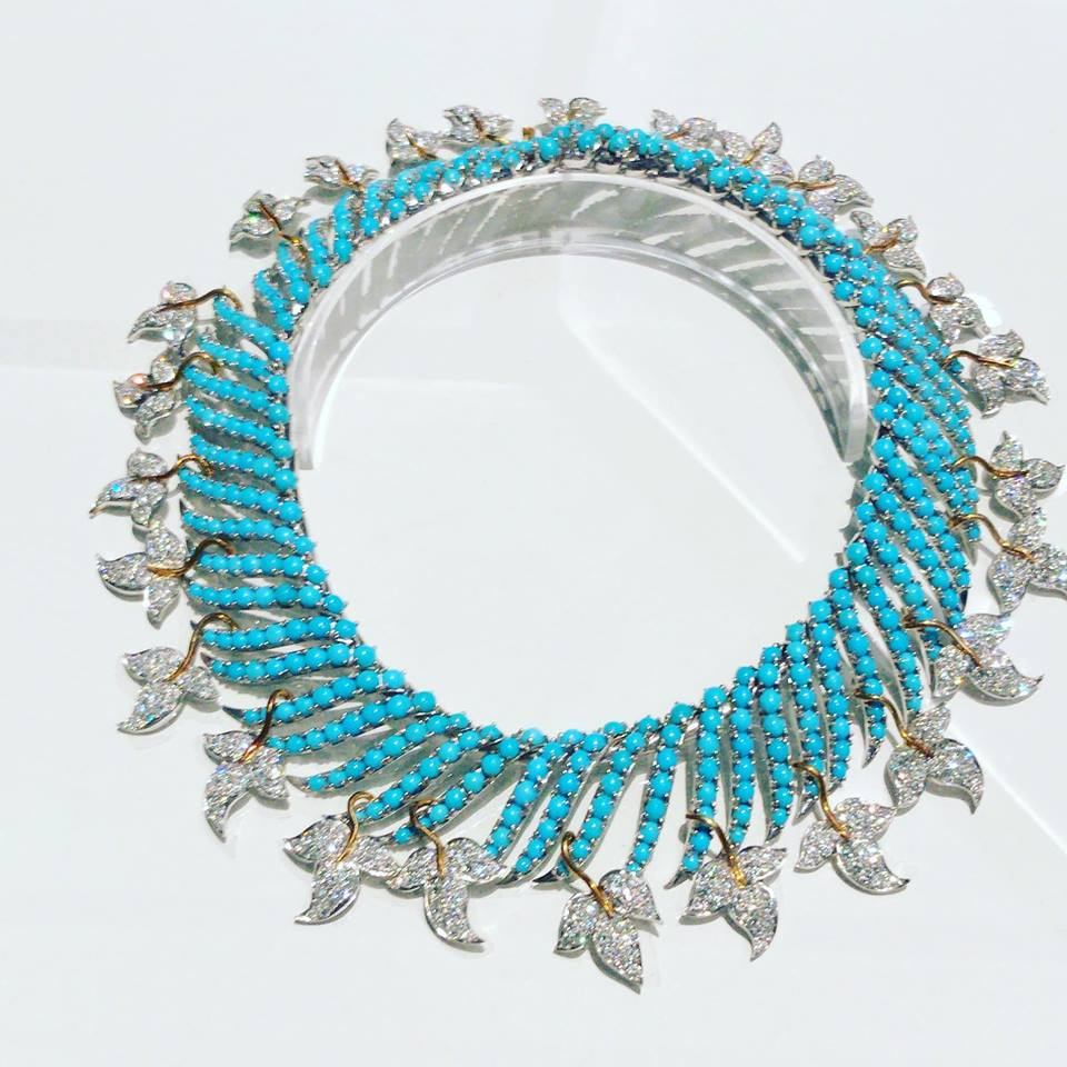 Jean Schlumberger Diamonds and Turquoise Necklace