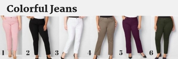plus size colorful jeans