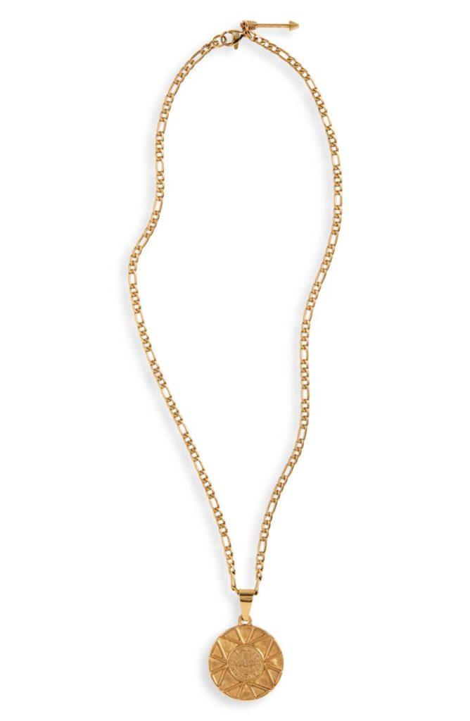 Ellie Vail Saint Coin Pendant Necklace