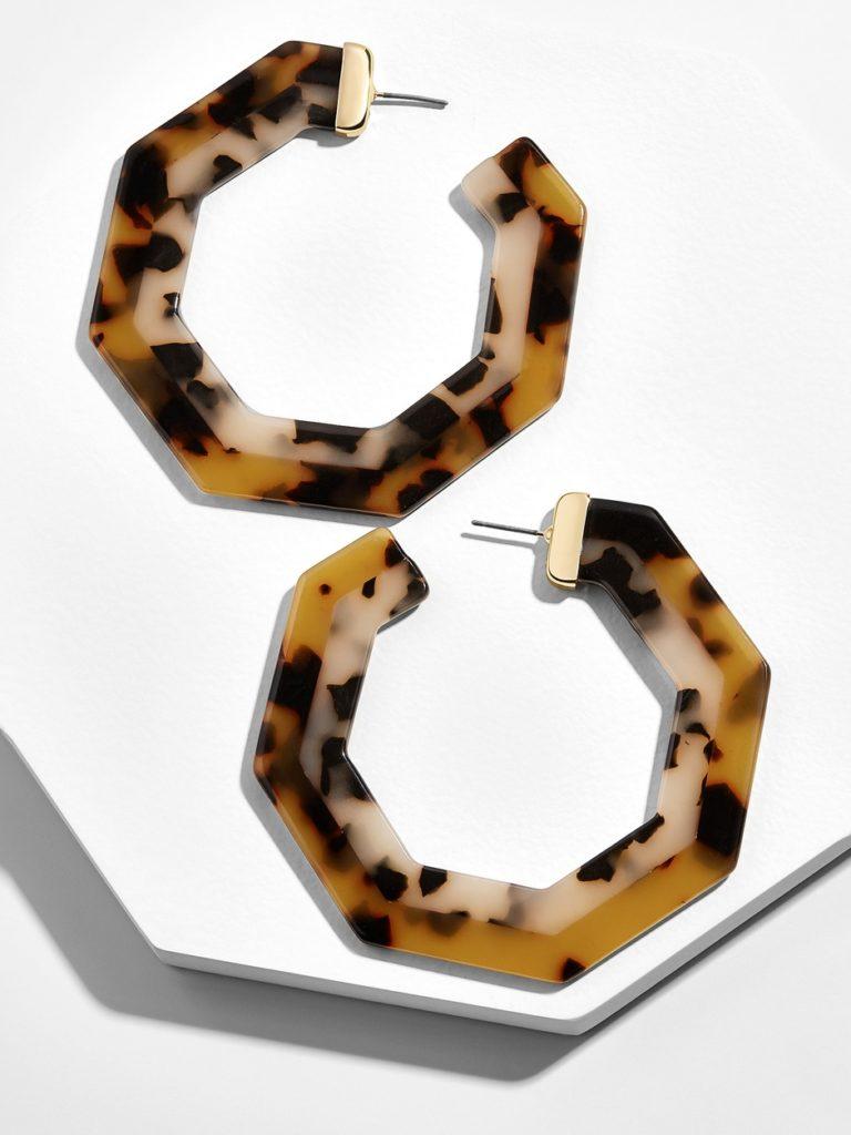 Deidre Resin Hoop Earrings