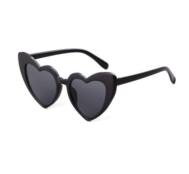 heart shaped sunglasses in black