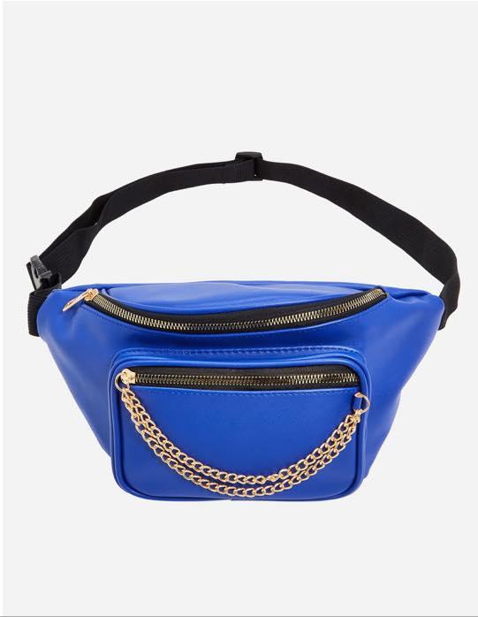 blue plus size belt bag