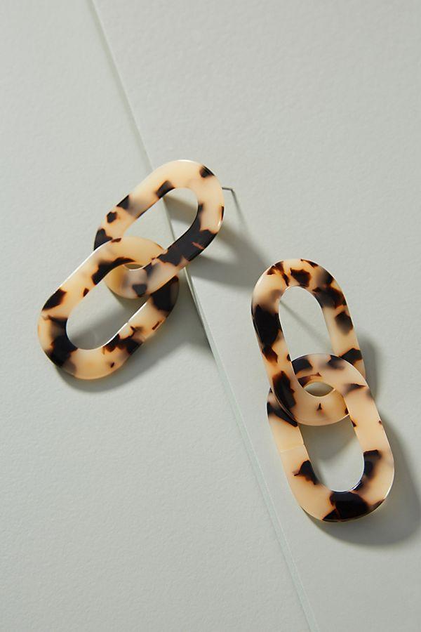 Resin Chain Drop Earrings