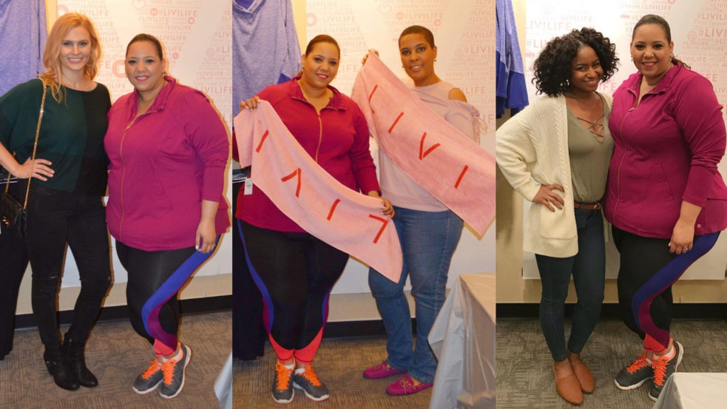 Plus size blogger farrah estrella at the lane bryant LIVI event in Tampa