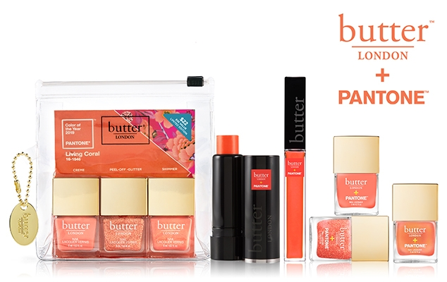 Butter London x Pantone Living Coral Collection