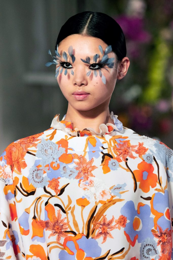 Feather Lashes Runway Look From Pat McGrath Valentino Spring 2019 Couture