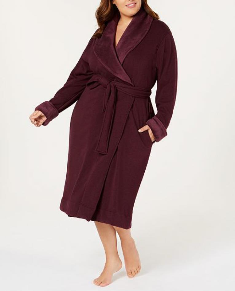 burgundy plus size robe