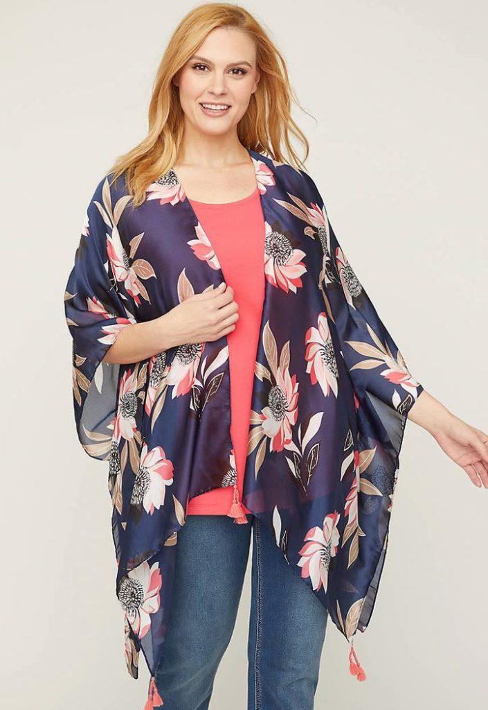 plus size primrose kimono