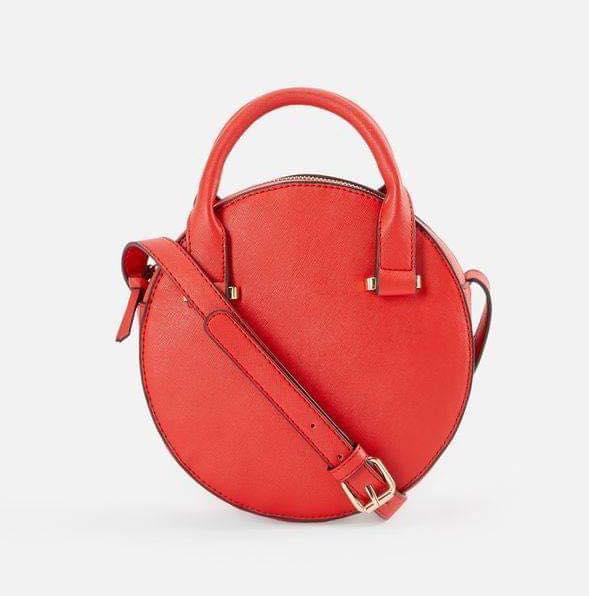 red round crossbody bag
