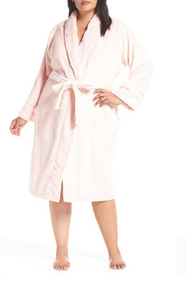 seashell pink bath robe