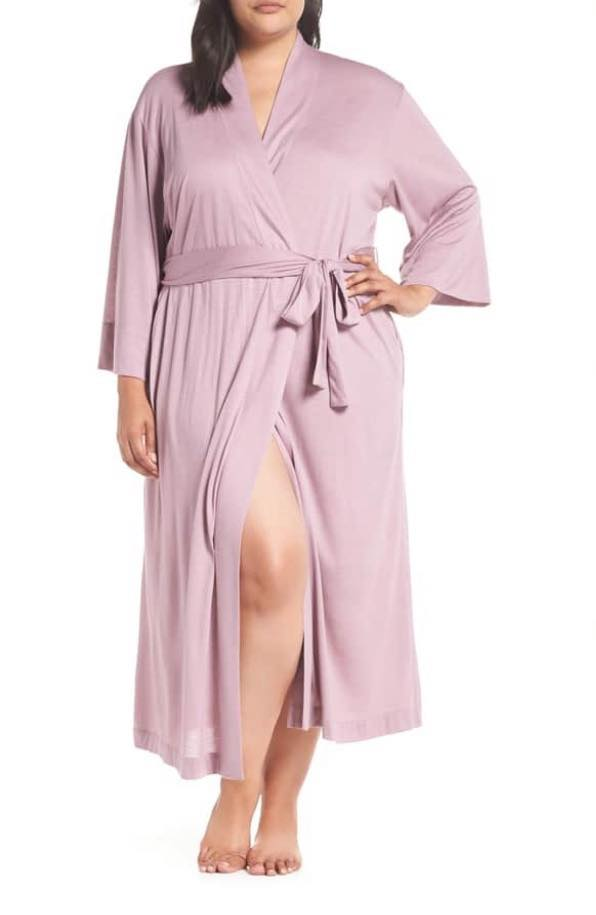 berry blush plus size robe
