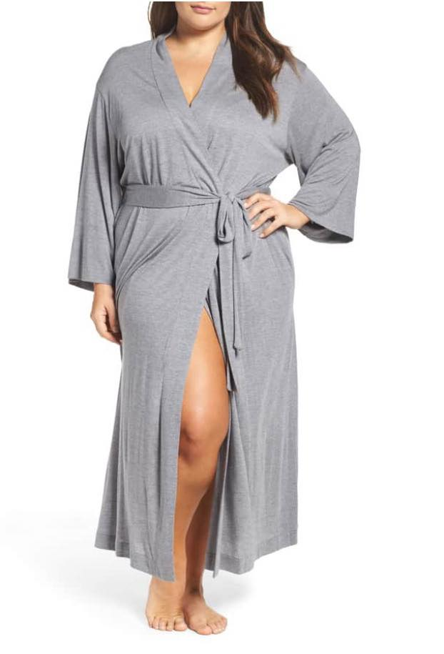 heather grey plus size robe