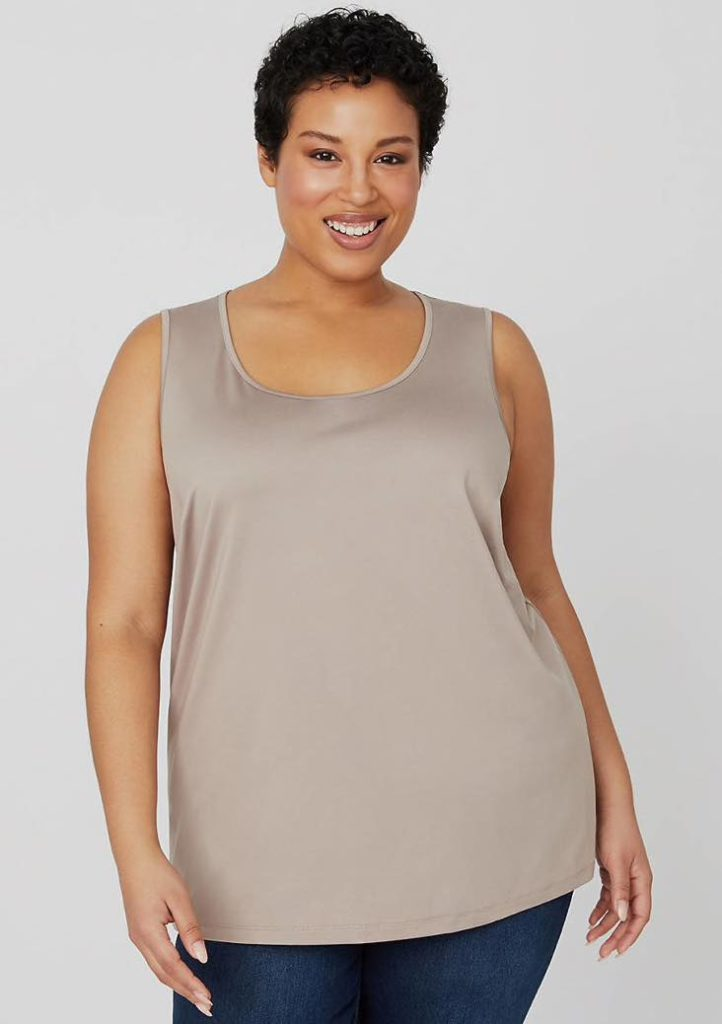 plus size tank top in cappuccino color