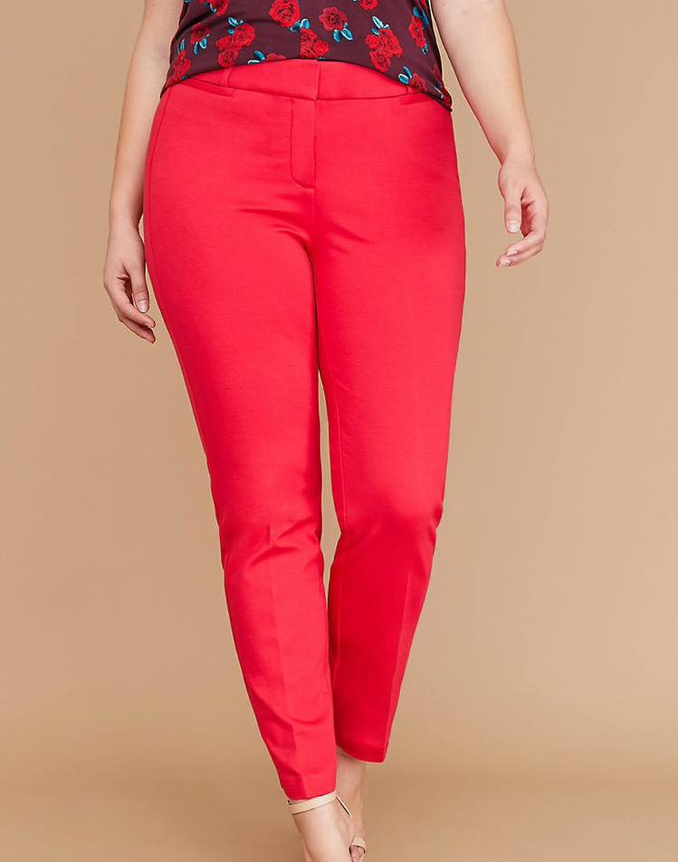 venetian red plus size Power Pockets Allie Ponte Ankle Pant