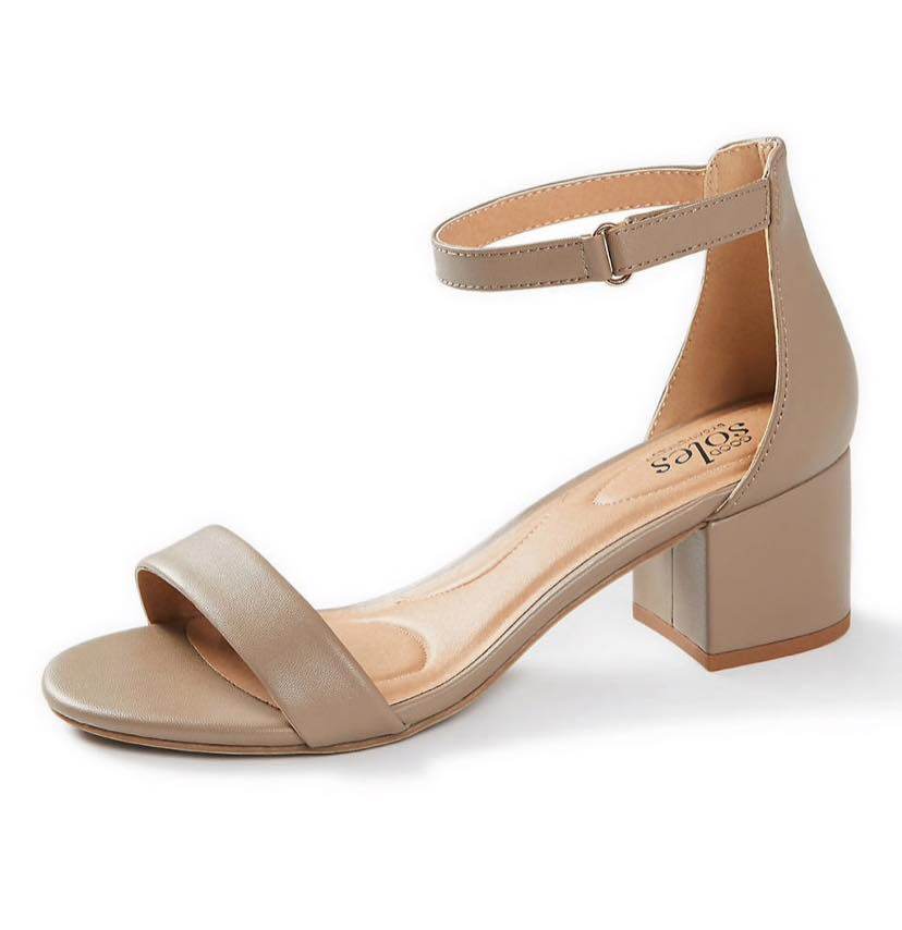 tan block sandals