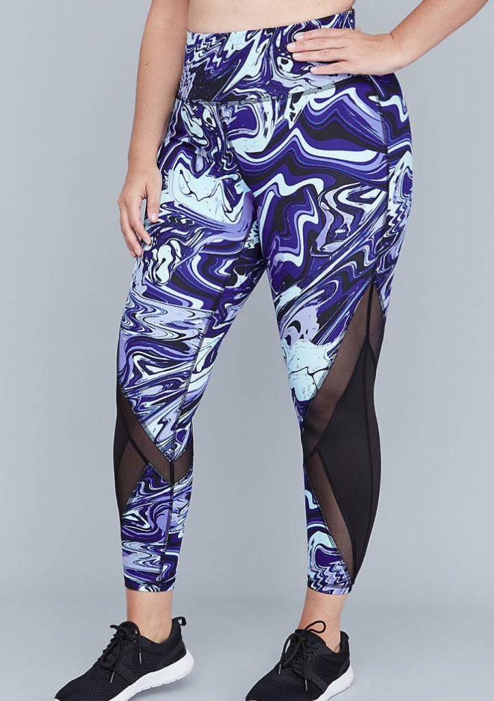 printed plus size leggings