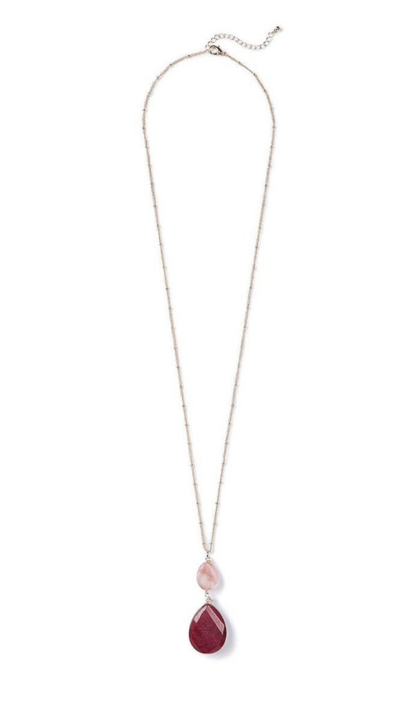 Rouge Pendant Chain Necklace