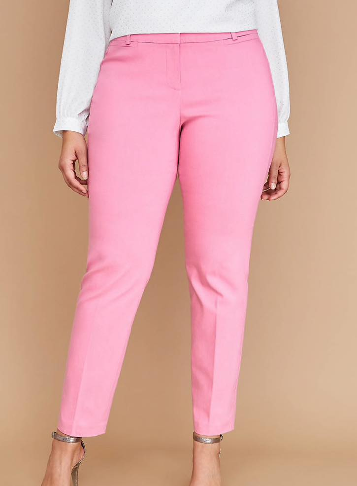 Pink Plus Size Power Pockets Allie Sexy Stretch Ankle Pant