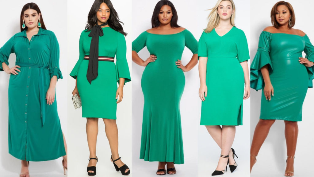 Green Plus Size Dresses