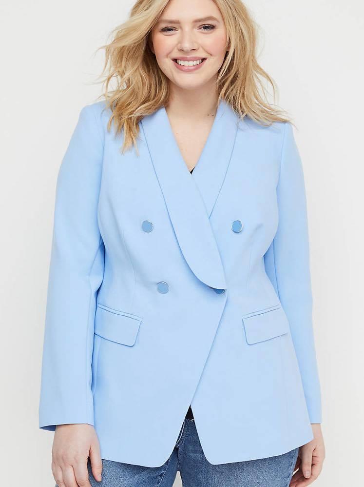 blue plus size blazer