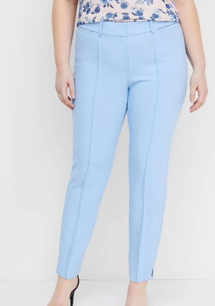 baby blue plus size pants