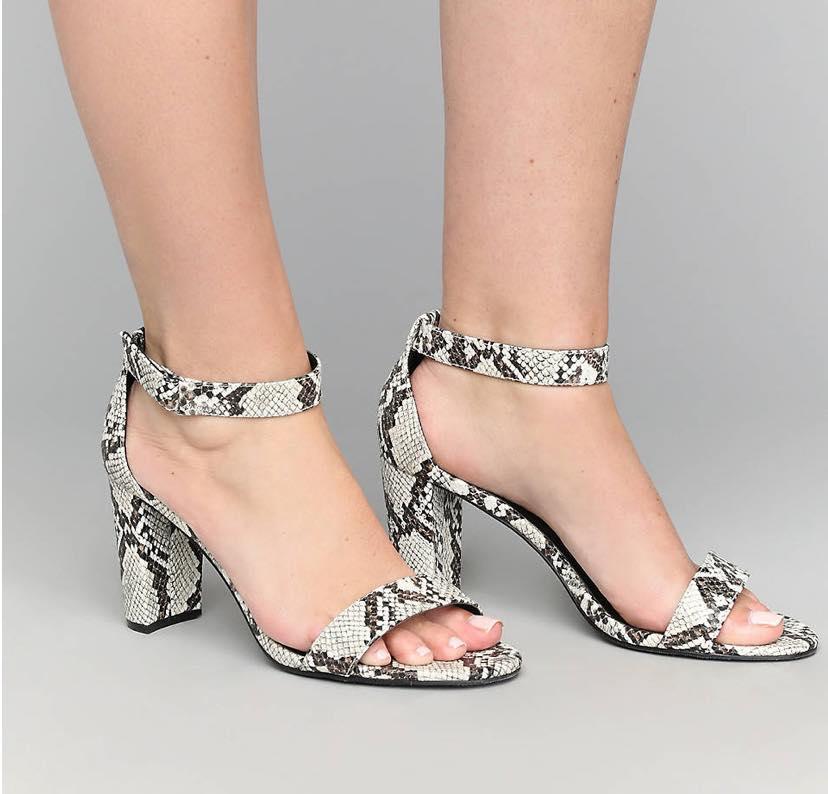 snake print sandals