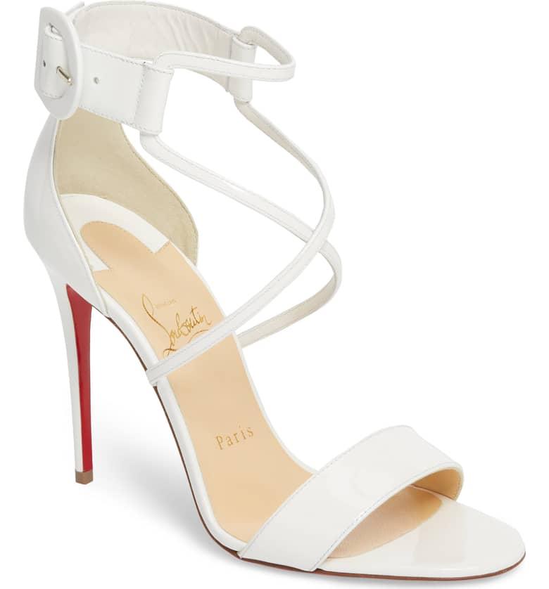 White Christian Louboutin Sandals