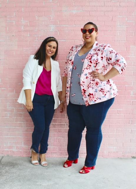 Tampa plus size bloggers farrah estrella and melissa whitney